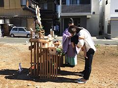 地鎮祭と配置の確認